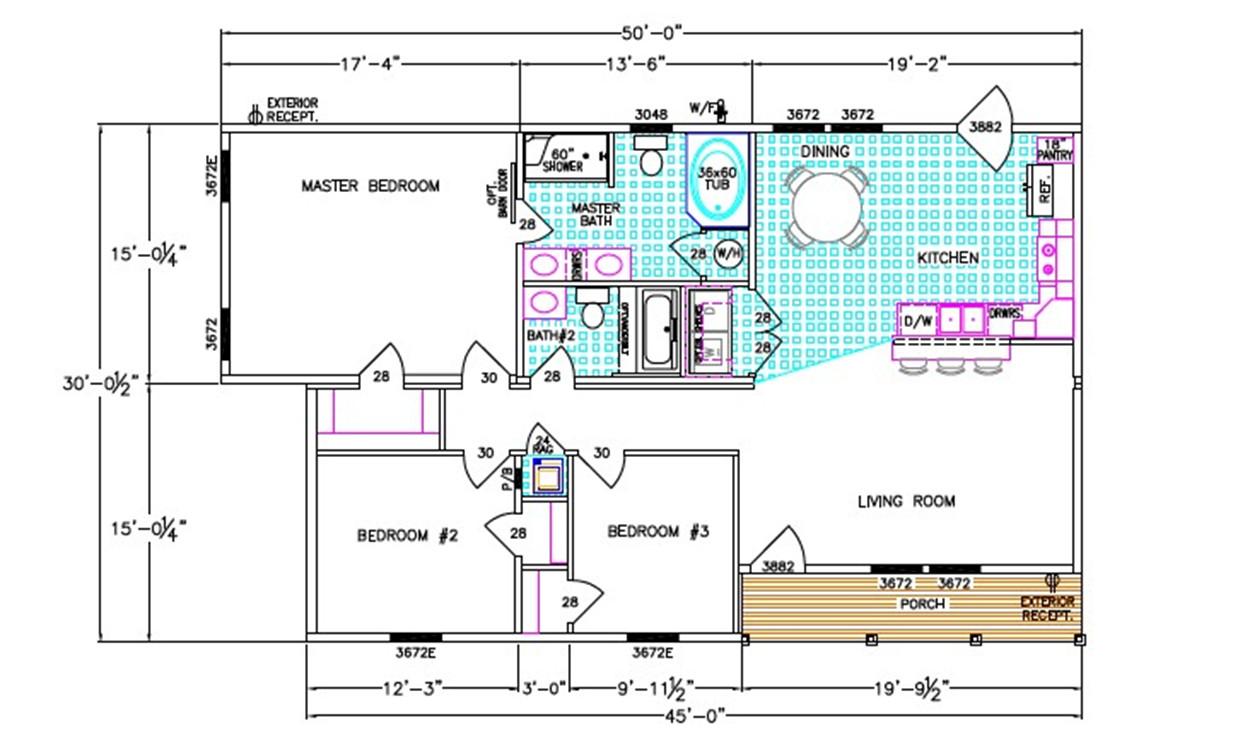 Ellistown Dimensioned Floorplan