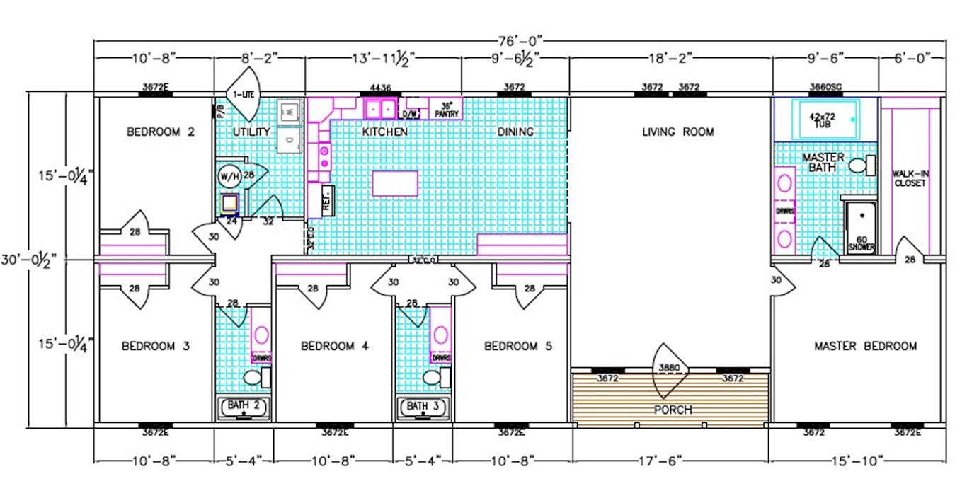 Hawthorn Dimensioned Floorplan