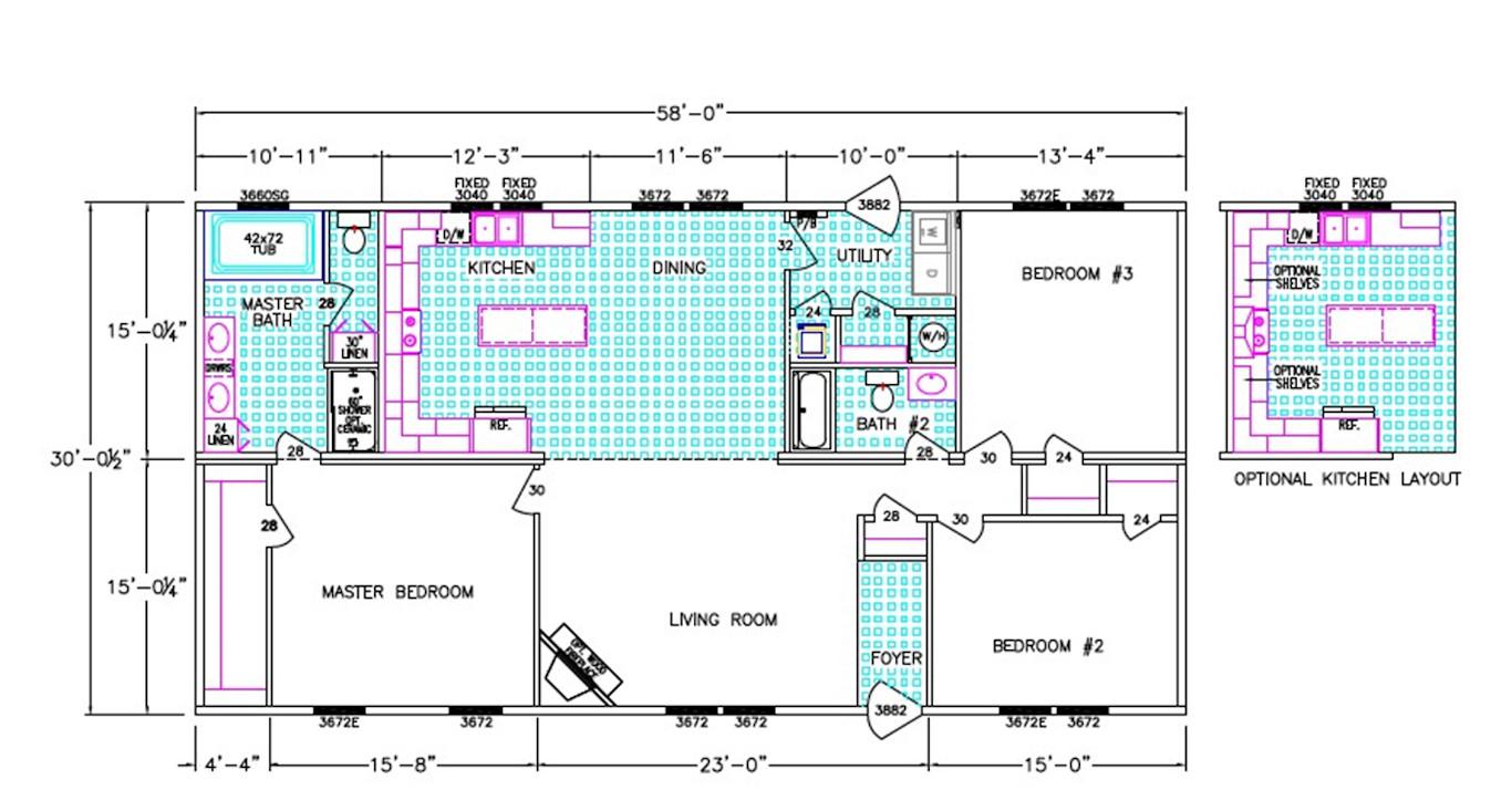 Riley Dimensioned Floorplan