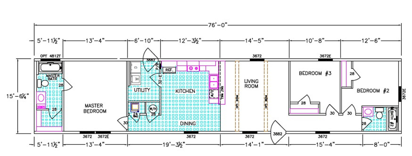 Huff Dimensioned Floorplan