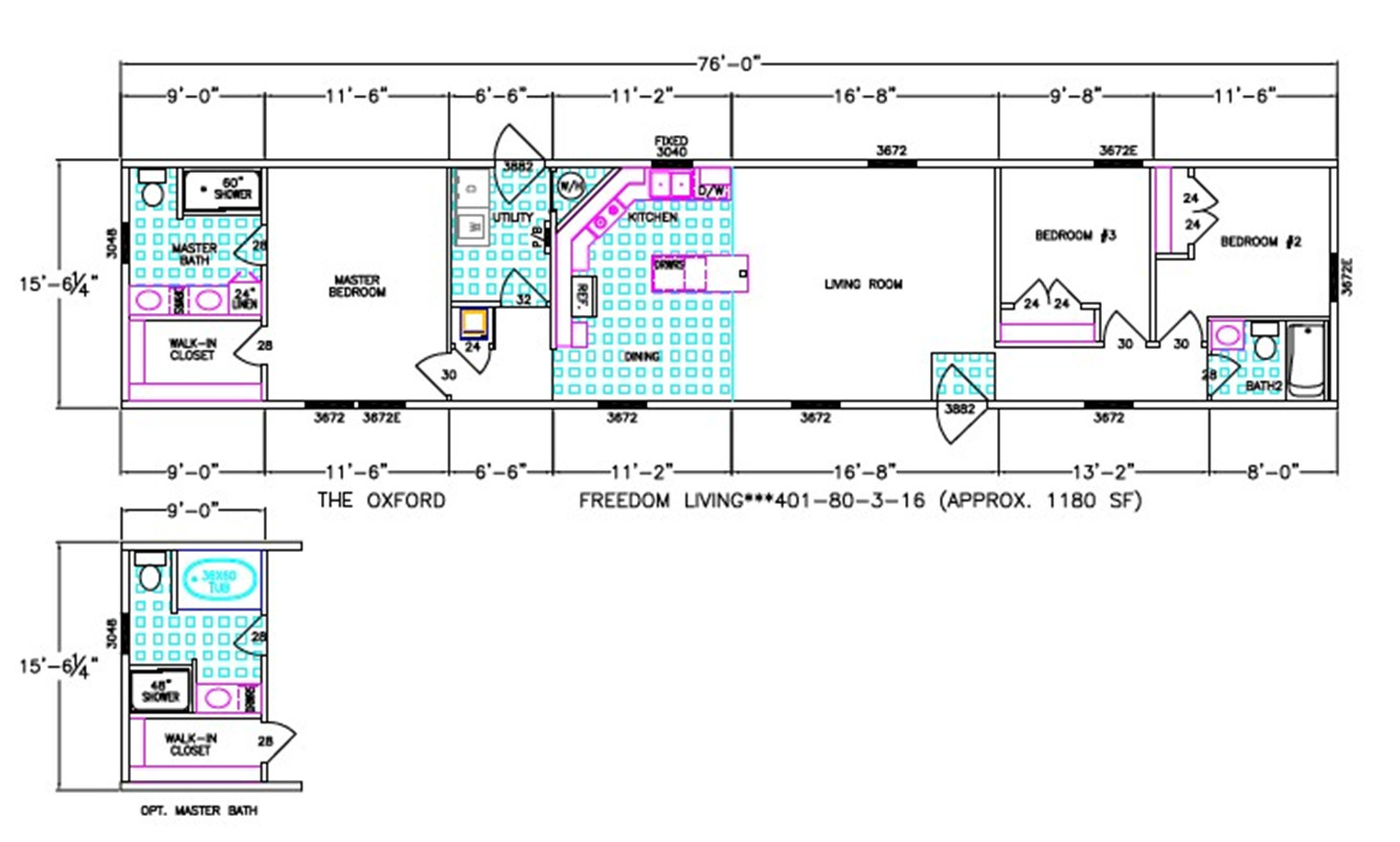 Oxford  Dimensioned Floorplan