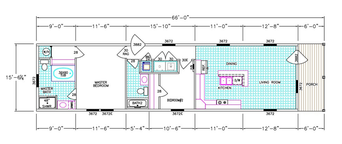 Thompson Dimensioned Floorplan