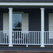 White Vinyl Porch Columns & Railings
