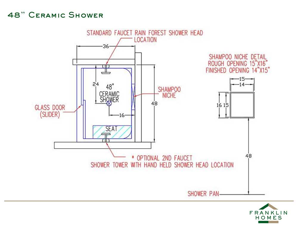 Ceramic Shower - 48 Inch