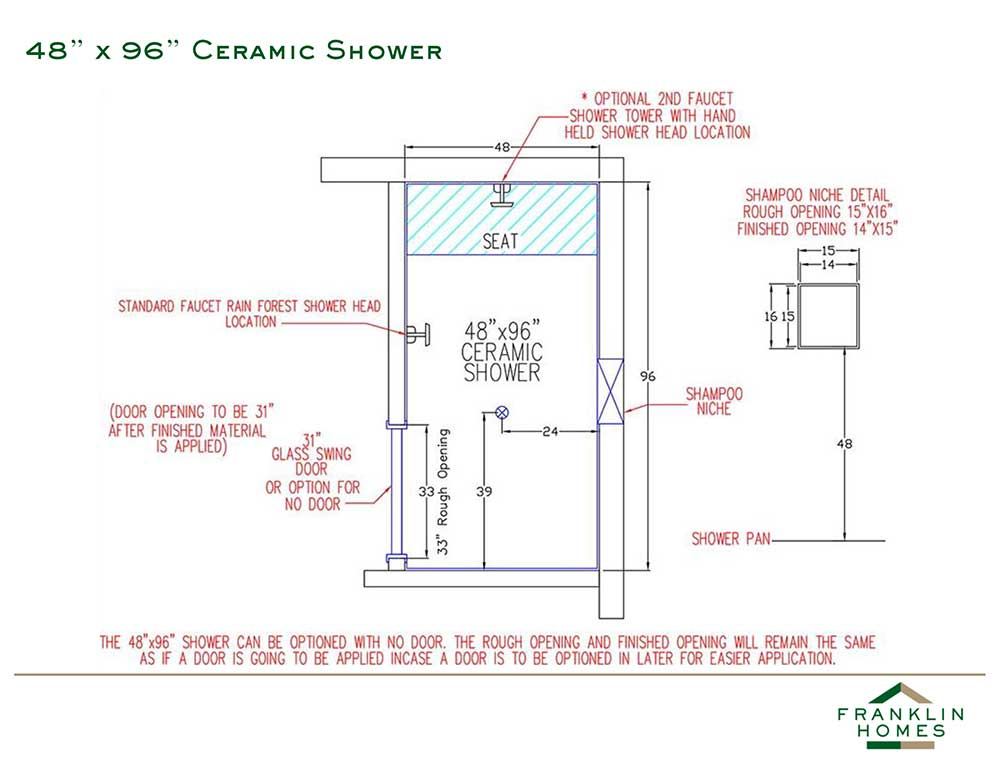 Ceramic Shower - 96 Inch