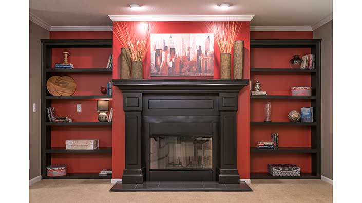 Black Wood Fireplace
