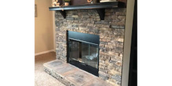 Mesa Valley Half Stackstone Fireplace