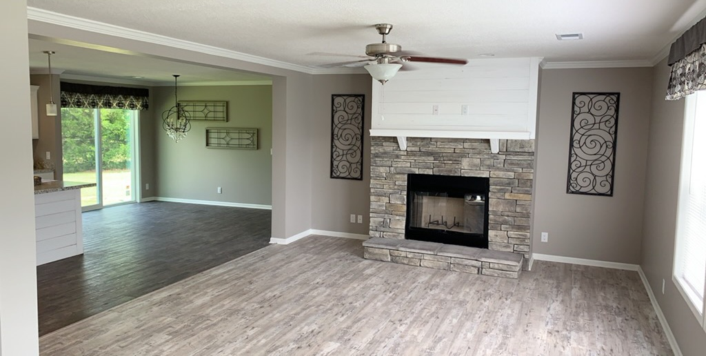 Metro Grey Half Stackstone Fireplace