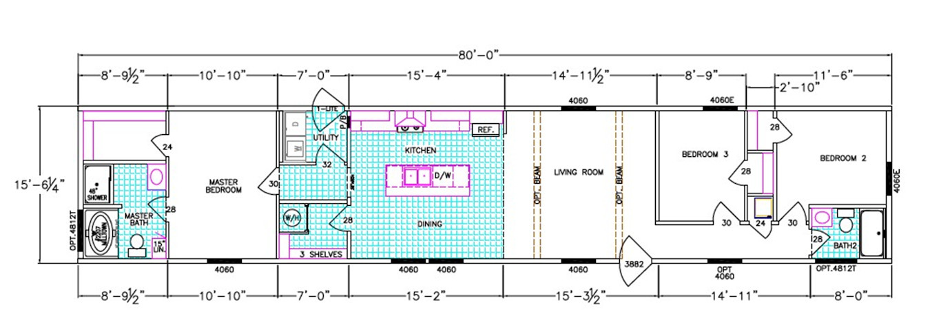 Daisy Dimensioned Floorplan