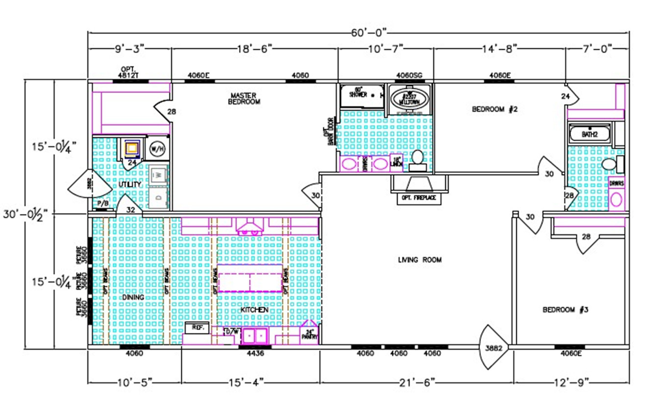Jesslyn Dimensioned Floorplan
