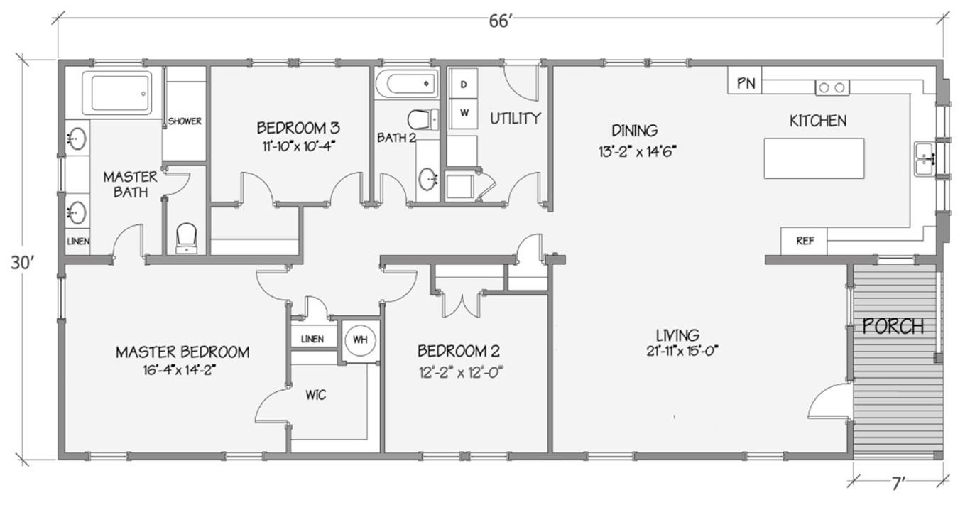 Coach House Rendered Floorplan