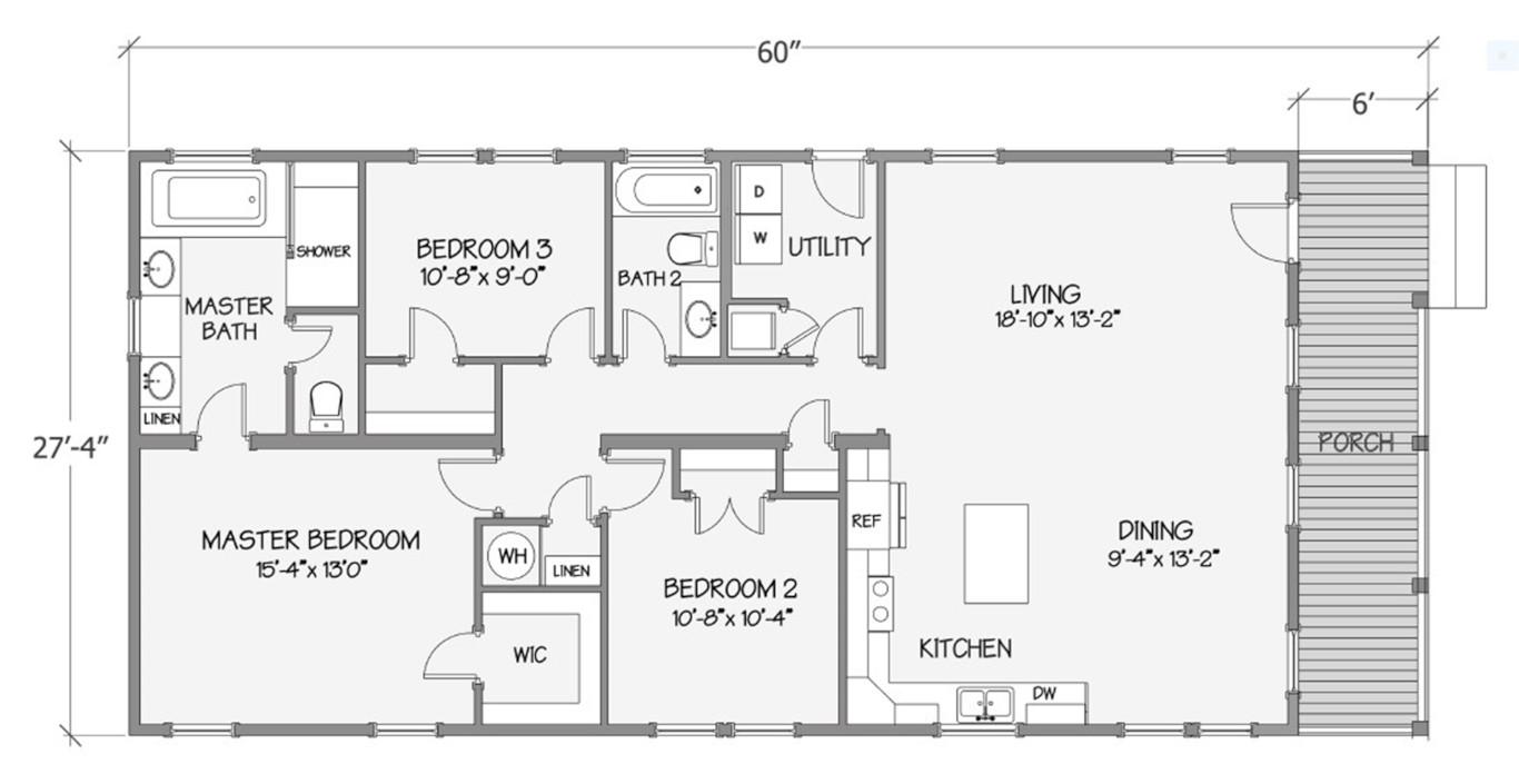 8017-64-3-30 Dimensioned Floorplan
