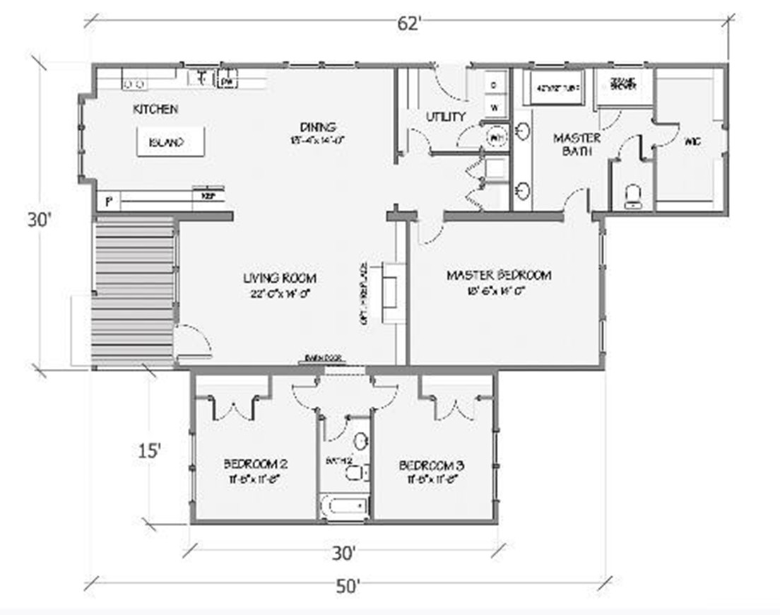 Azalea III Rendered Floorplan