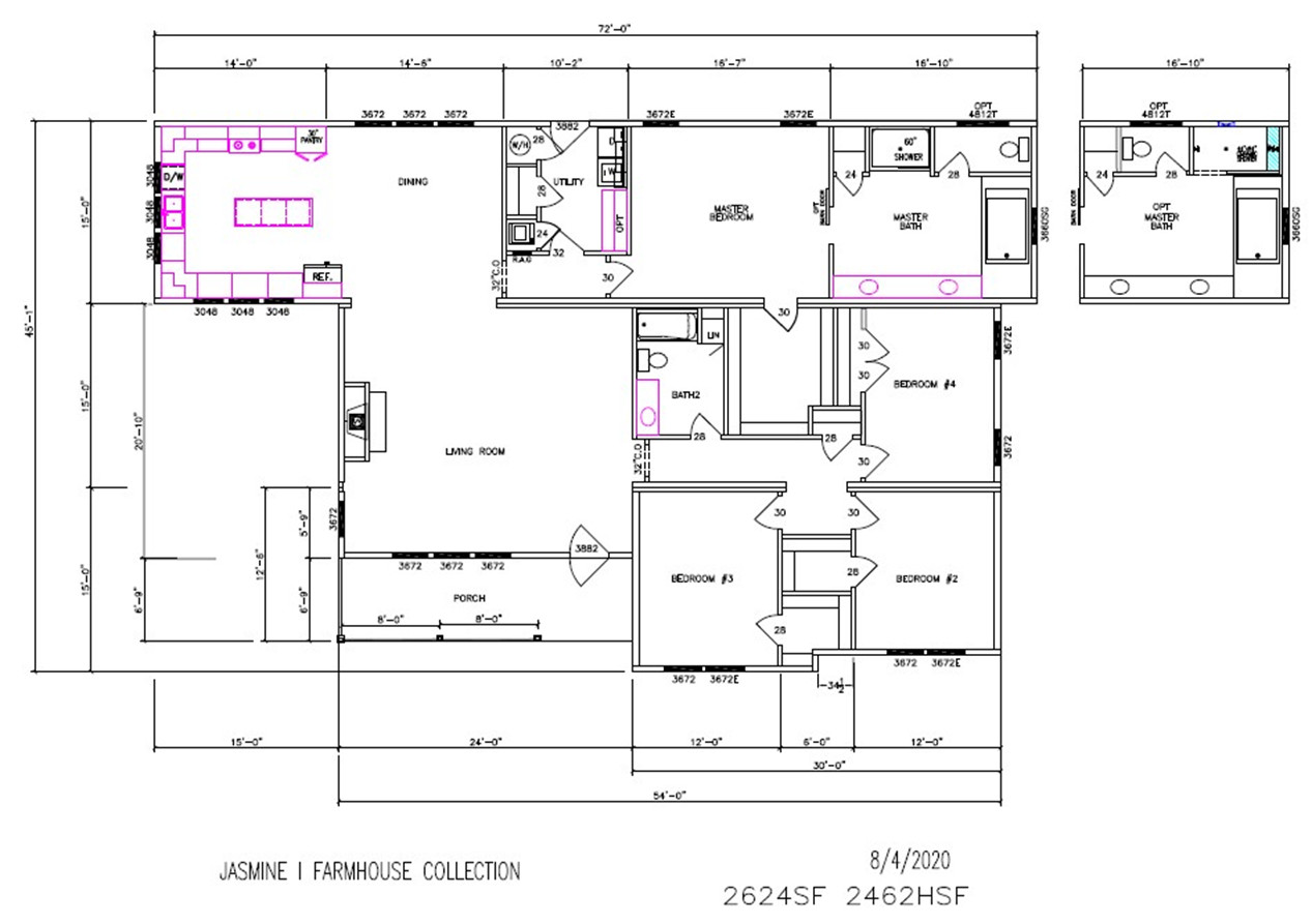 Jasmine I Dimensioned Floorplan