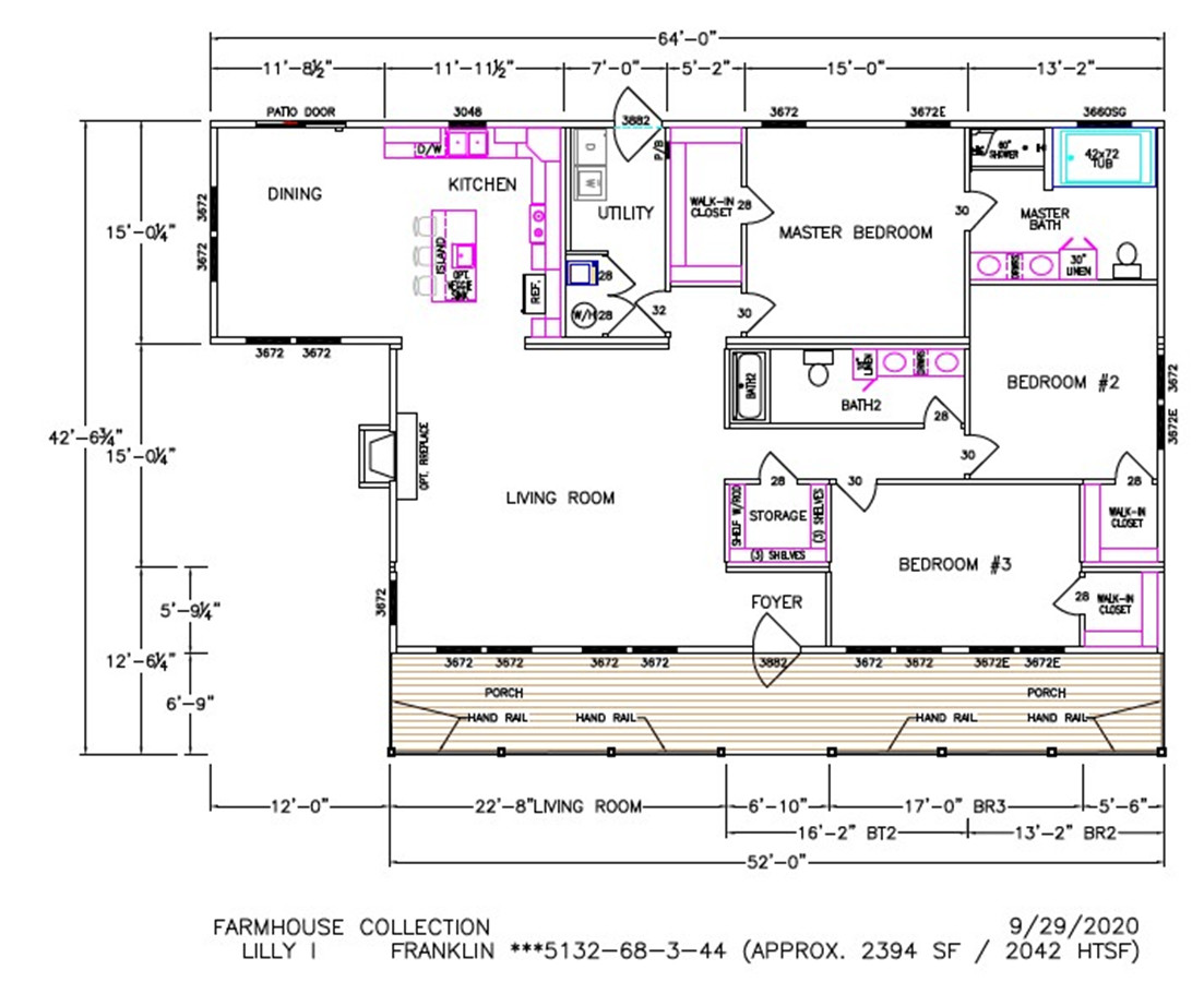 Lilly I Dimensioned Floorplan