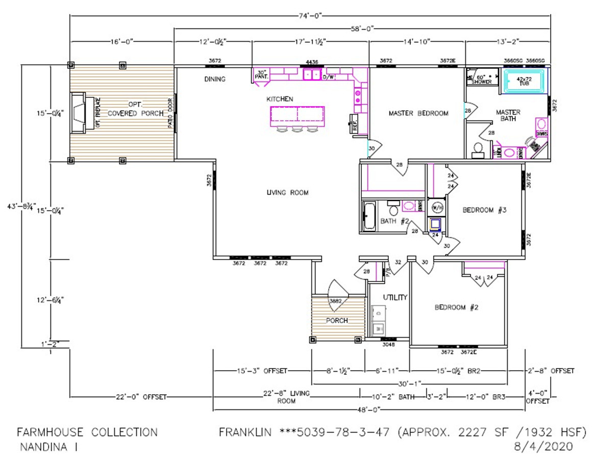 Nandina I Dimensioned Floorplan
