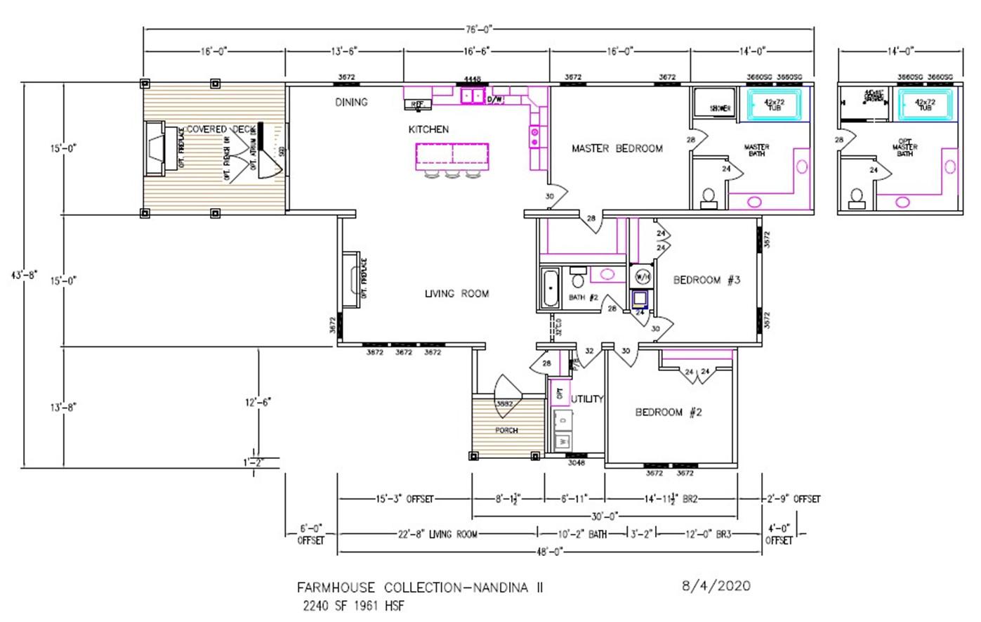 Nandina II Dimensioned Floorplan