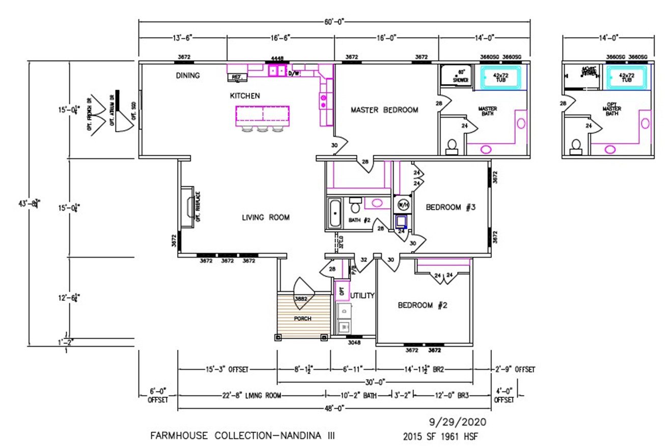 Nandina III Dimensioned Floorplan