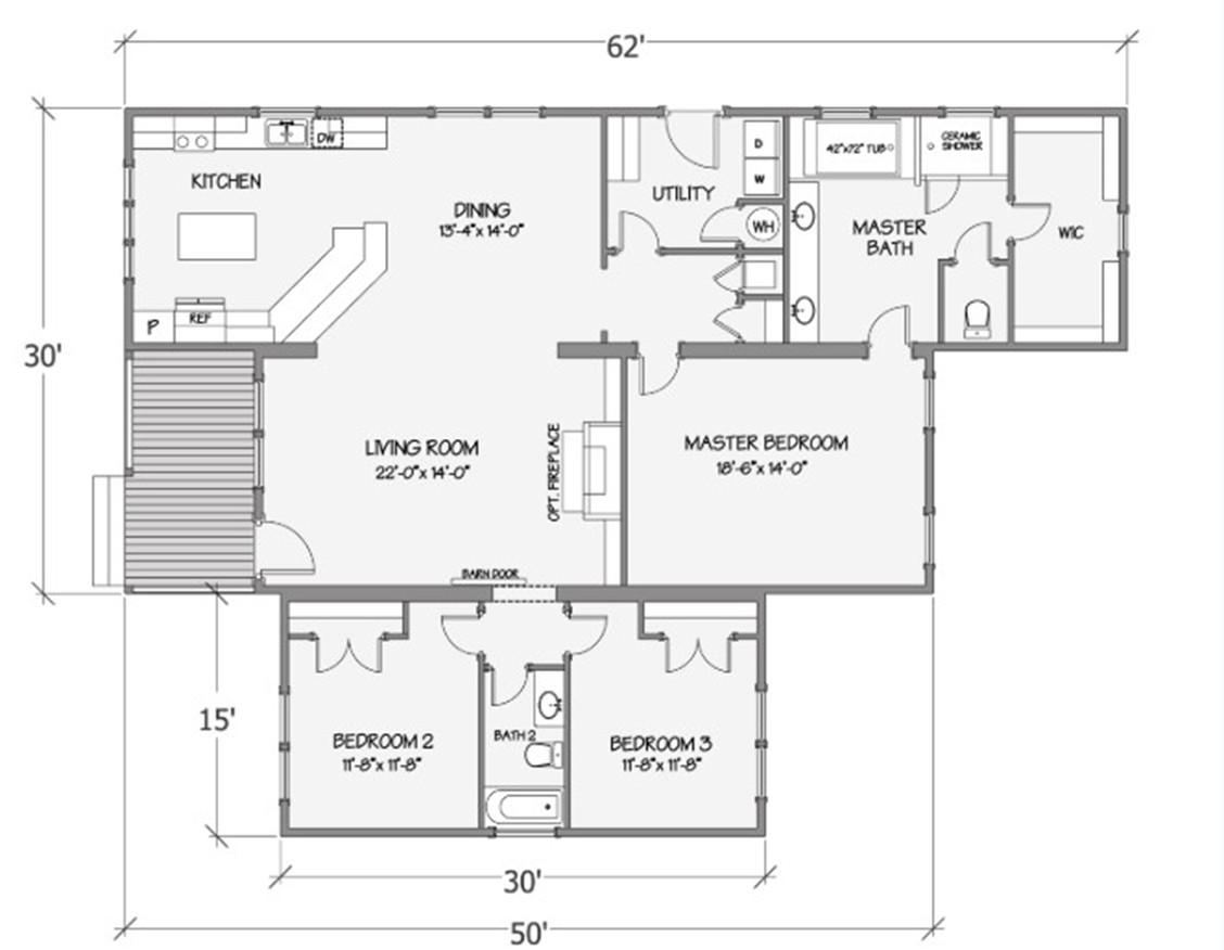 Azalea II Rendered Floorplan
