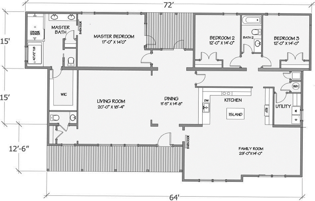 Cypress Lake I Rendered Floorplan