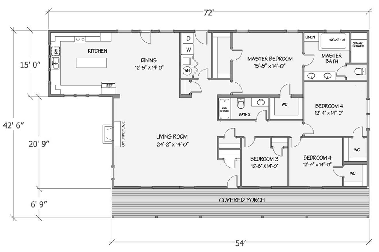 Lilly II Rendered Floorplan